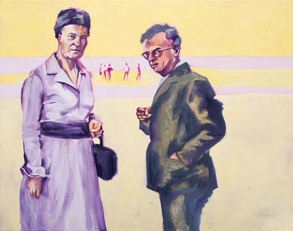 Simone und Jean-Paul. 2013. Öl auf Leinwand. 50x40cm